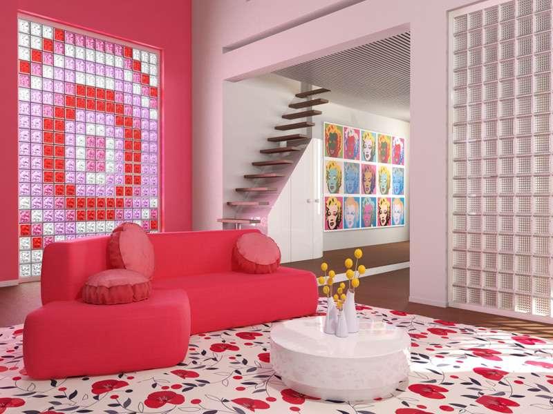 Seves Glassblock   Living Room