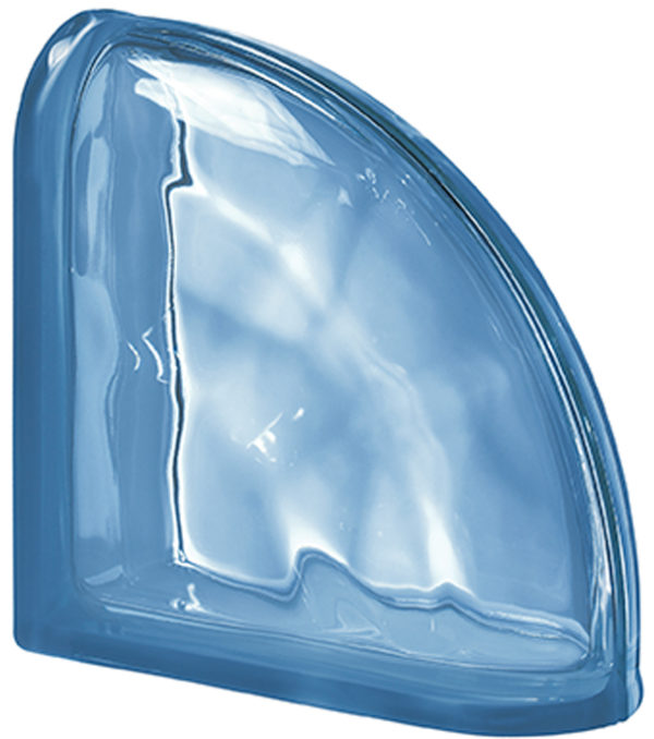 PEGASUS Blue Curved Terminal Wavy Transparent