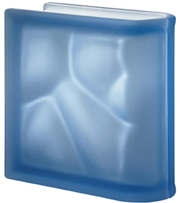PEGASUS Bleu Terminale Lineaire Ondulé Satiné deux faces