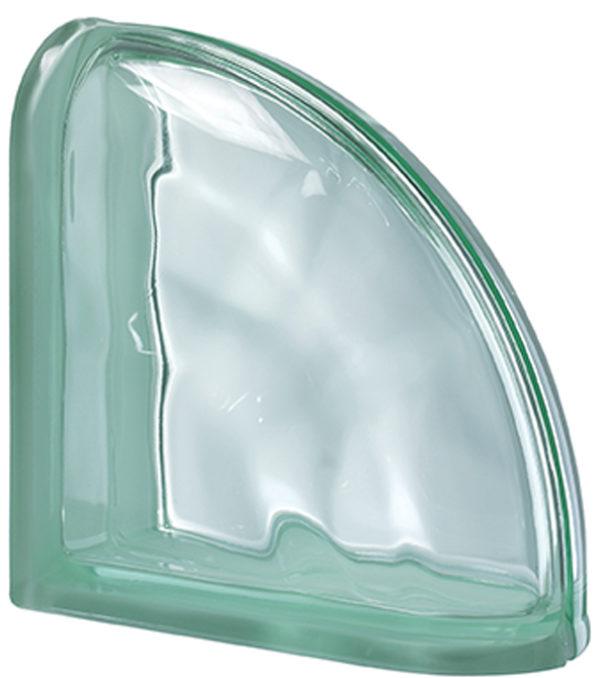 Carreau de verre PEGASUS Vert Terminale Courbe Ondulé Transparent