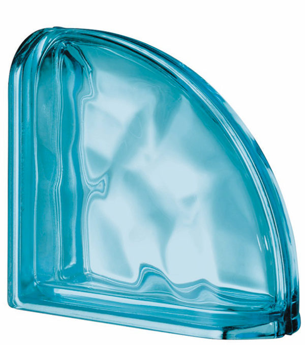 PEGASUS METALLIZZATO Aquamarine Curved Terminal Wavy Metallised